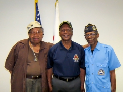 Veterans Jesse White and Fellow Veterans -  Image By Curtis Kojo Morrow