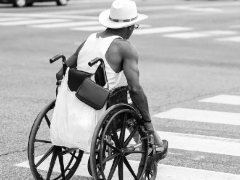 Man In Wheelchair In The Street - Image Foster Garvin